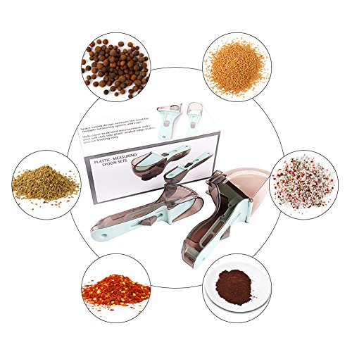 Adjustable Measuring Spoon Professional Cooking Baking Tool Adjust-A-Measure Teaspoon And Adjust-A-Tablespoon Cup Scoop Ideal For All Ingredients 2 Packs