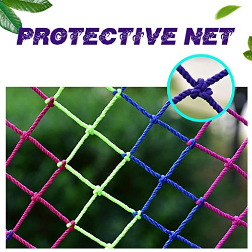 HJBhjb Farbe Polyester Flexibles Netz for Kinderschutz Garten Bepflanzung Dekoration Net Baumhaus Deckendekoration Hammock Balkon Geländer Schutz Net Foto Wall (Polyester) (Size : 1x1m=3.3x3.3ft)