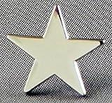 Broche en métal émaillé Motif étoile Argenté Rhodié)