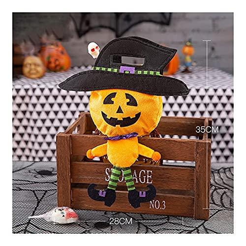 Yyqx Decorazione di Halloween 100pcs Halloween Candy Bags Bambini Trucco o Scherzetto Party Dessert Dessert Bag Bag Pumpkin Ghost Happy Halloween Party Decor (Color : Army Green)
