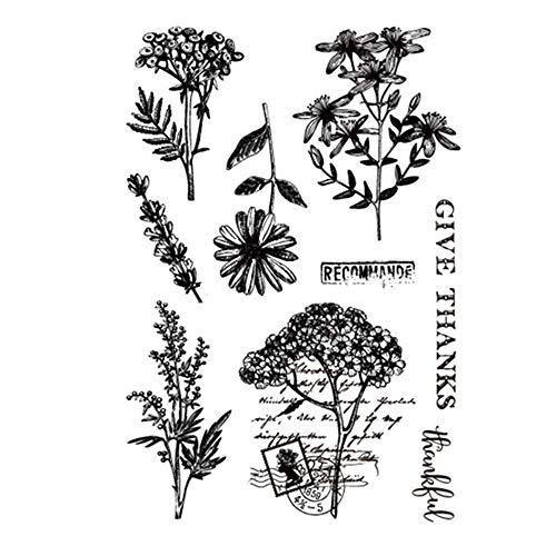 Stempel/Stempel, Motiv Gänseblümchen, Blätter, Gummi, Transparent, für Scrapbook/Fotoalbum, dekorative Karten