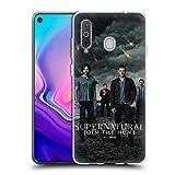 Offizielle Supernatural Sam, Dean, Castiel und Crowley 2 Schluessel Kunst Soft Gel Handyhülle Hülle Huelle kompatibel mit Samsung Galaxy A8s (2018)