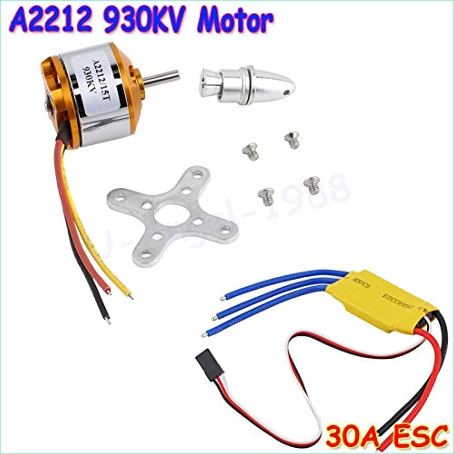 Laliva New Motor A2212 930KV Brushless Outrunner Motor W  Mount 15T+ ESC 30A for RC Aircraft Quadcopter UFO