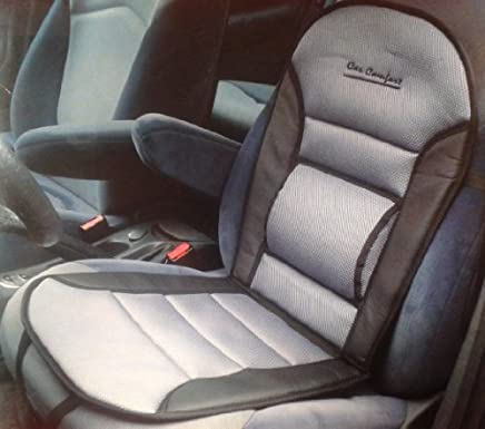 Carpoint 02 232 76 Black And Grey Seat Cushion Leather Look Trim with Lumbar Support