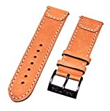 Nautica Men's A14530G | 24mm Brown Leather Original Replacement Watch Band/Strap