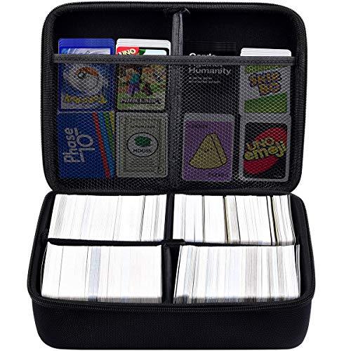 PAIYULE 1600+ Karten Extra große Hartschalen-Kartenhülle. Passend für Hauptspiel, C. A. H./Pokemon/YuGiOh/Magic Das Sammelkartenspiel und alle Anderen Erweiterungen für Kartenspiele