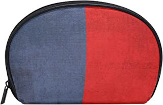 Retro Philippine Flag Vintage Womens Half Moon Cosmetic Bag Makeup Pouch Shell Toiletry Kits
