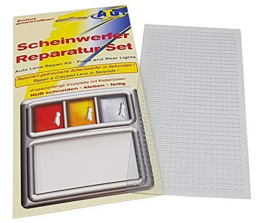 Kit de réparation Feux arrière Clignotant Boîtier en Plastique Clair lisse sans structure (9,5 cm x 19,5 cm)