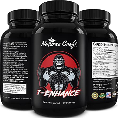 Best Natural Testosterone Booster for Men - Male Enhancement Supplement Estrogen Blocker Energy Pills for Enlargement Muscle Builder Fat Burner and Mood Boost - Male Enhancing Energy Supplement