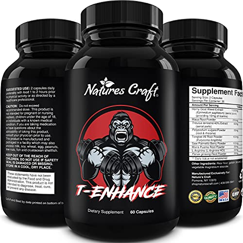 Natural Testosterone Booster for Men - Male Enhancement Supplement Estrogen Blocker Energy Pills for Enlargement Muscle Builder and Mood Boost - Male Enhancing Energy Supplement Product Name