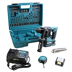Makita cordless rotary hammer (including drill / bit assortment, 2x battery / charger in transport case, 340 W, 10.8 V) HR166DSAE1