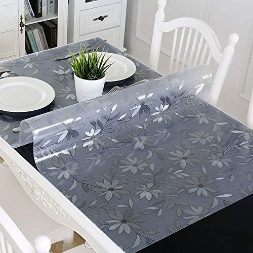 Tafelkleed Zacht Glas Transparant Pvc Tafelkleed Waterdichte Feest Bruiloft Thuis Keuken Eettafel Placemat 70x130cm Pools madeliefje 1mm
