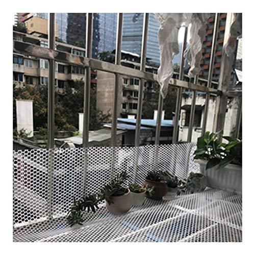 LinLiQiao Valla de seguridad para balcón o balcón, impermeable, para evitar animales de garza, color blanco, 0,8 x 8 m. (apertura de 0,8 cm, color: blanco)