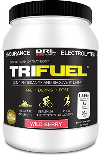TRIFUEL - 3-in-1 Endurance and Recovery, Hydration, BCAA, Electrolyte Enhanced Drink (Wild Berry)…