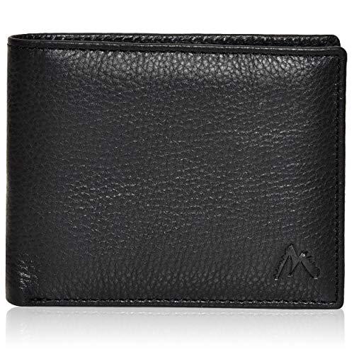 Portafogli neri per uomo tasca frontale RFID Slim Design minimalista Portafoglio in pelle