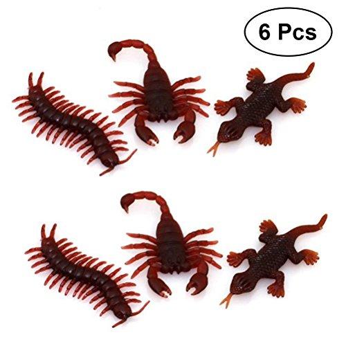 Jsmhh Halloween 6 PCS Tricky Requisiten - Gefälschte Centipede Scorpion Gecko Simulation Prop for Halloween des ersten Aprils Unfug