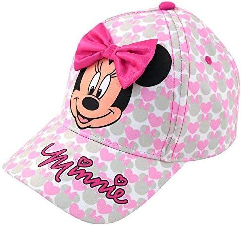 Disney Girls Minnie Mouse Cotton Baseball Cap with 3D Bowtique Bow (Toddler/Little Girls)