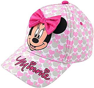 Girls Minnie Mouse Cotton Baseball Cap with 3D Bowtique...