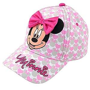 Disney Girls Minnie Mouse Cotton Baseball Cap with 3D Bowtique Bow (Ages 2-7)