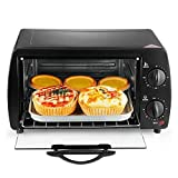Controsoffitto del forno del tostapane, 4 fettine, dimensioni compatte, facile da controllare con impostazione del toast a forno a forma di timer, 1000W, acciaio inossidabile/nero, facile da control