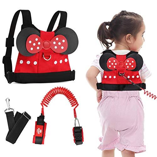 Lehoo Castle Toddler Leash for Walking, Baby Leashes for Toddlers 3-in-1, Kid Leashes for Girls, Child Safety Leash Anti Lost Wrist Link (Minnie)