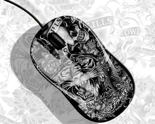 Preisvergleich Produktbild Ed Hardy MO09101 Optical Mouse Limited Edition black