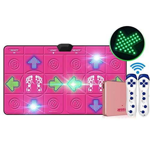 WYH Intéressant LED Double Lumineux Tapis de Danse Computer TV à Double Usage Interface Accueil Vibrato for Enfants Running and Dancing Machine Sensible (Color : Pink)