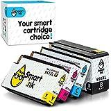 Smart Ink kompatible Tintenpatrone als Ersatz für HP 950XL 951XL 950 XL 951 4 Multipack (BK &C/M/Y) Patrone hoher Kapazität für Officejet 8100 8600 8610 8620 8630 8640 8660 8615 8625 251DW 276DW