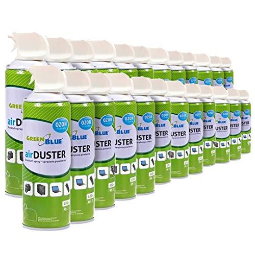 Green Blue GB400 Druckluft Spray 24 x 400ml Air Duster Reinigung Druckluftspray Druckluftreiniger Pressluft Computer Reiniger