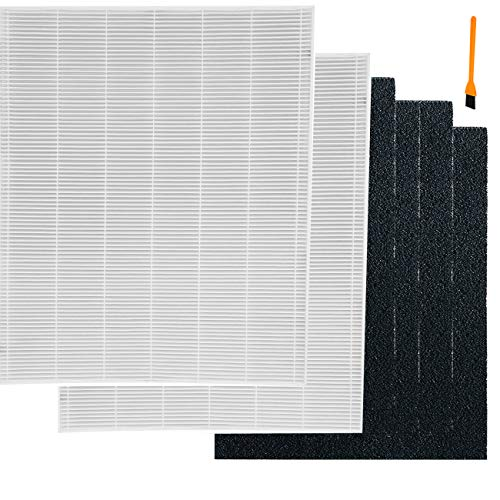 Hongfa True HEPA Filter for Coway AP-1512hh Mighty Air Purifier, 2 Packs 3304899 Filters and 4 Carbon Filters