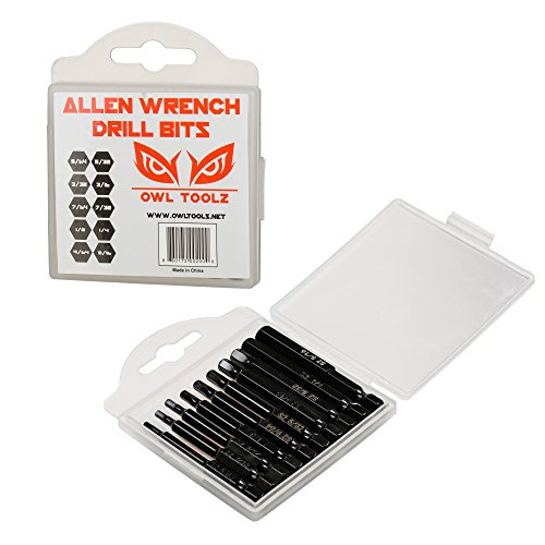 Hex Head Allen Wrench Drill Bit Set (Huge 10 Pack with Storage CASE) - Magnetic Tips - Quick Release Shank for Easy Attachment - Solid S2 Steel Alloy - 2.3