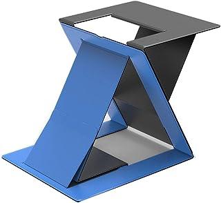 Soporte de Portátil Stand-up Laptop Stand dispositivo de almacenamiento de Aumento de elevación del radiador plegable invisible Neck Brace soporte portátil Laptop Stand/Soporte ( Color : Blue )