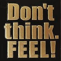 蒔絵シール 文字 「Don't think FEEL 金」