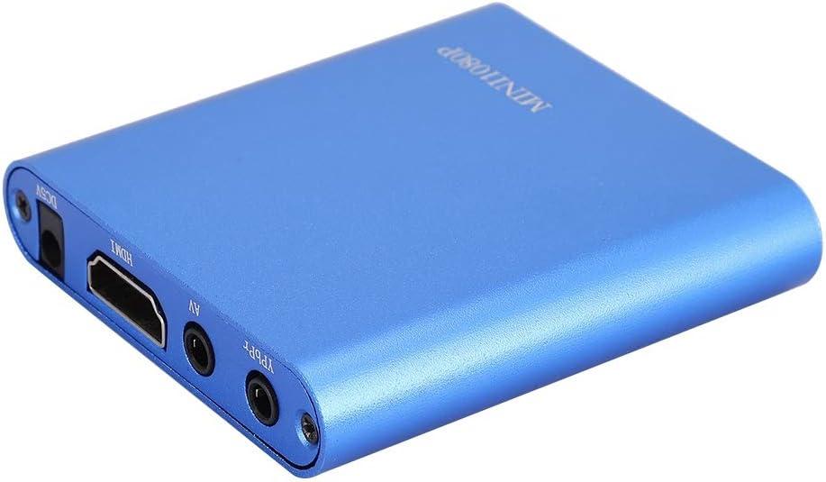 Wisoqu Media Player, F10 HDMI Media Player Mini 1080P Media Player HDMI Digital Media Player with Remote Control(100-240V)(Blue)