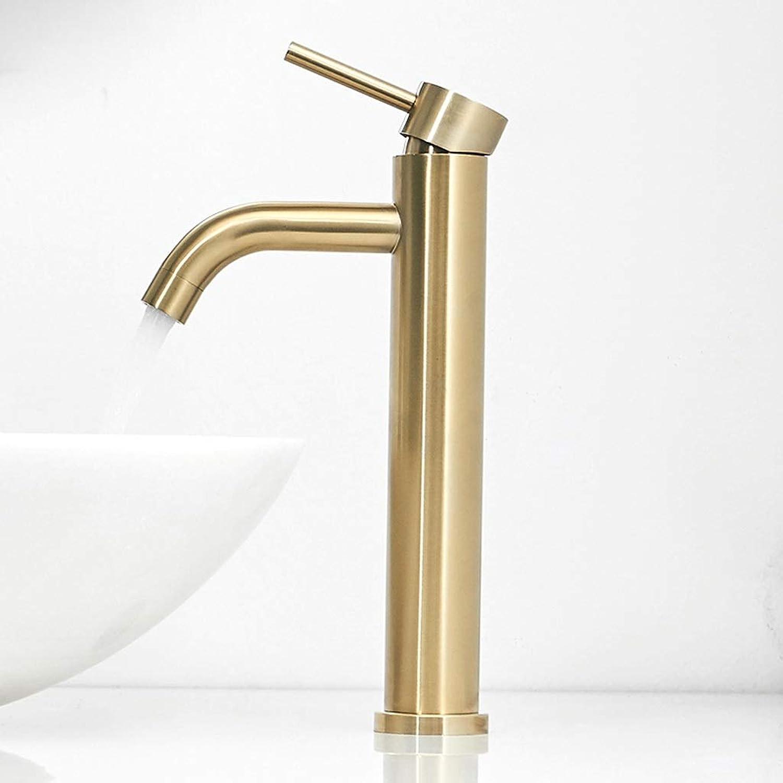 Niuniu Becken Mischbatterie Badezimmer Hohe Waschbecken Wasserhahn Einhebel Wasserhahn Verchromt Messing Hot Cold Mixer Tap (gre   Langer Abschnitt)