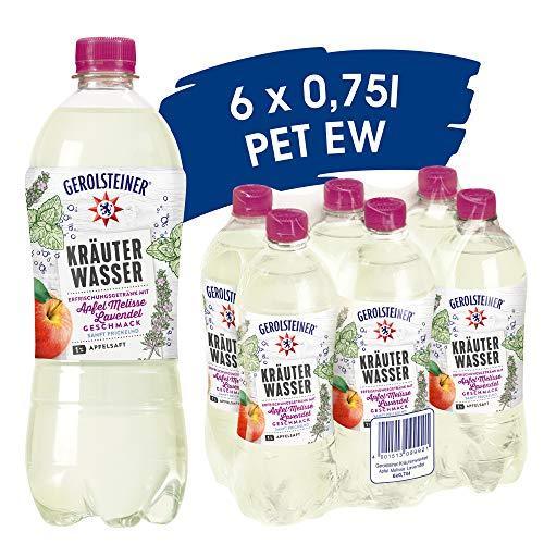 Gerolsteiner Kräuterwasser Apfel Melisse Lavendel, EINWEG (6 x 0,75 l)