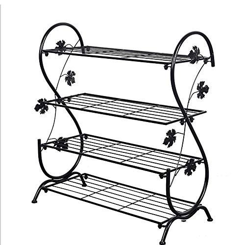 Marco de metal de almacenamiento en rack de zapatos de malla de acero estante fuerte, multi-capa de combinación zapatero de almacenamiento en rack Multi-funcional, perfecto for el dormitorio, closet