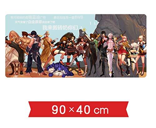 TMEET DNF und Krieger rund um DNF Sommer Badeanzug Übergroße Anime Game Desk Pad Tastatur Mauspad, Y.