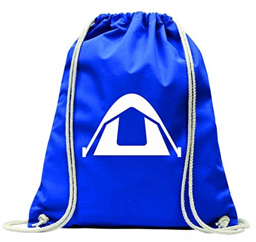 Druckerlebnis24 Turnbeutel Lager- Camping- ANDERE Dinge- PAVILLON- TIERHEIM- Zelt mit Kordel - 100% Baumwolle- Gymbag- Rucksack- Sportbeutel