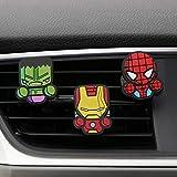 3Pcs / Set Simpatico Clip Per Profumo Di Sfiato Per Auto Dell'Automobile Per Marvel Avengers Hero Figure Decorazione Interna Automatica Deodorante Per Accessori7