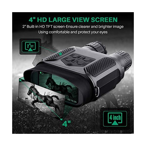 Binoculares Digitales Vision Nocturna, Tomar Fotos y Videos -Equipo de Espionaje infrarrojo de 3.5-7x31mm,850nm IR… 1