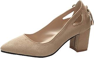 SANFASHION Escarpins Mode Femmes Sandale Bout Pointu Cheville Hauts Talons Parti Travaille Chaussures Simples