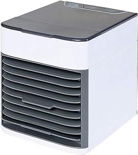 JCJ-Shop Mini Unidad De Aire Acondicionado, Enfriadores Evaporativos 3 En 1, 7 Colores Led De Noche, Ventilador De Enfriamiento De Escritorio De 3 Velocidades para El Hogar
