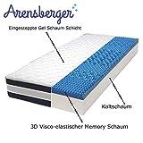 Arensberger ® Relaxx 7 Zonen Wellness Matratze mit 3D-Memory Foam, 140 cm x 200cm, Höhe 27cm, Raumgewicht 50 kg/m³, DREI Schichten: Kaltschaum + Visco Smart Schaum + Gel Schaum - 3