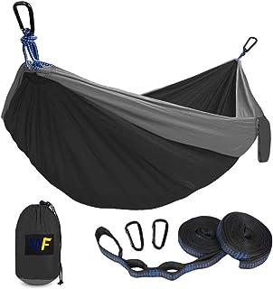 Hamaca ultraligera de viaje para camping hamaca para exteriores capacidad de carga de 800 kg 270 x 140 cm bolsa de tra...
