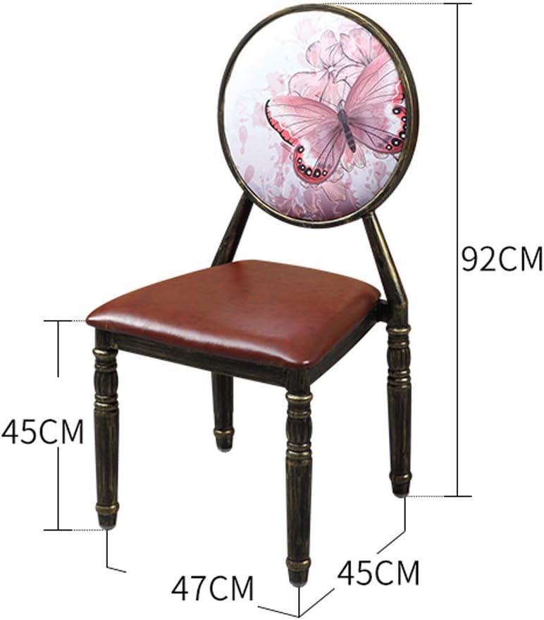 HXF- Chaise de salle à manger, chaise de bureau simple, dossier créatif, chaise de loisirs, chaise de salle à manger pour adulte durable (couleur : vert) Marron
