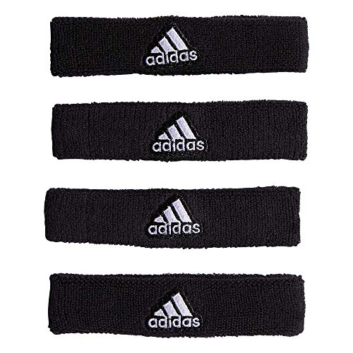 adidas Interval 3/4-inch Bicep Band Sweatband, Black/White, One Size Fits All