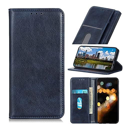 SZCINSEN Funda con tapa para Huawei P Smart 2021, funda multifuncional de piel sintética con tapa tipo cartera para tarjetas de identificación y crédito (color azul)