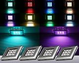 RGB LED Unterbauleuchten / Art. 2118-6 / 6-er Set mit Trafo Steuerung und Fernbedienung / Lichtfarbe Rot Grün Blau / Vitrinenbeleuchtung / Möbelbeleuchtung / Regalbeleuchtung