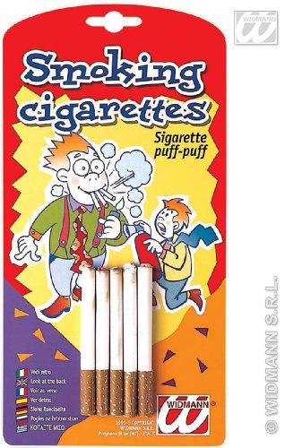 Widmann Cigarettes Faux Puff, Plaisanterie Carnaval, Couleur Blanc, 4958q